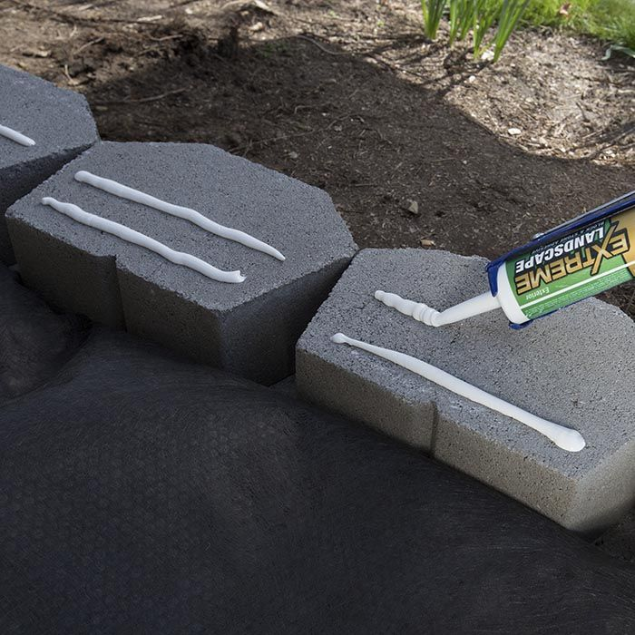 Apply Concrete Adhesive Building A Retaining Wall