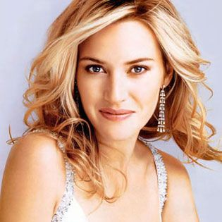 Sparkling, gorgeous blonde with shading at roots. Kate Winslet