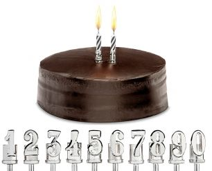 Candle Holders – KEEPSAKE NUMBERS - Sterling Silver Item 110583935 Birthdays and Anniversaries... some special celebrations require you to say it with numbers!  Sterling Silver Candle Holders make a memorable keepsake that can be used through the generations again and again.