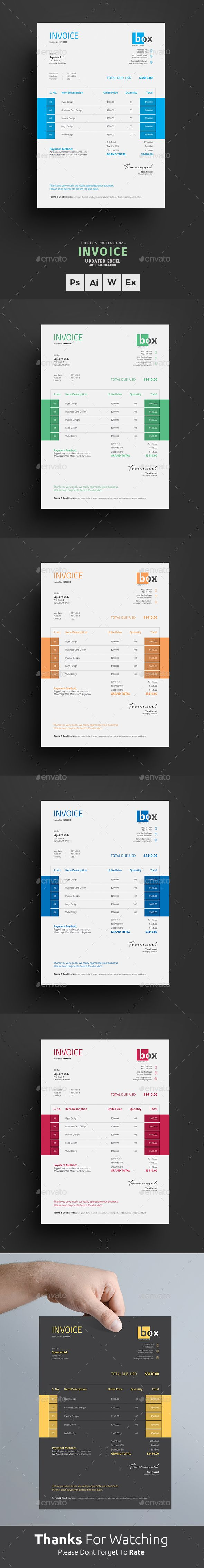 Clean Invoice by themedevisers Invoice Excel Template. Use this Clean Invoice for personal, corporate or company billing purpose. This Simple Invoice will help
