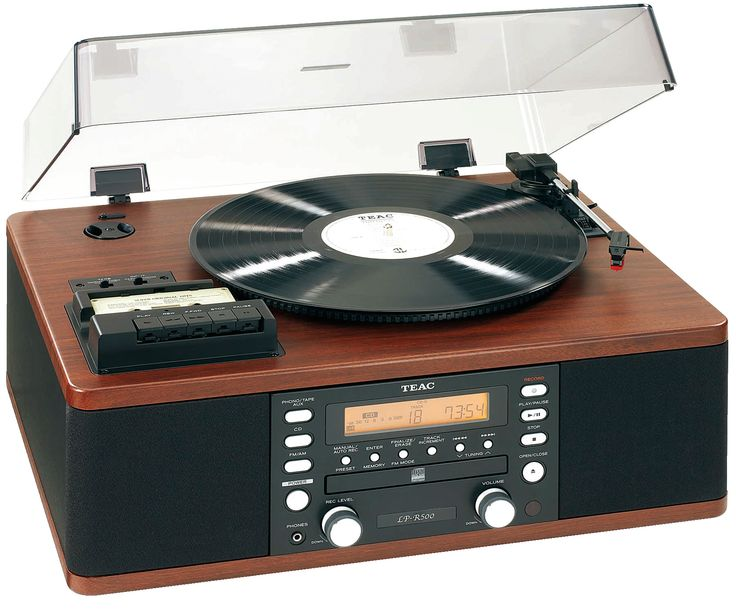 TEAC LP R500 Record Player Combo With Cassette Player, CD Player And Radio