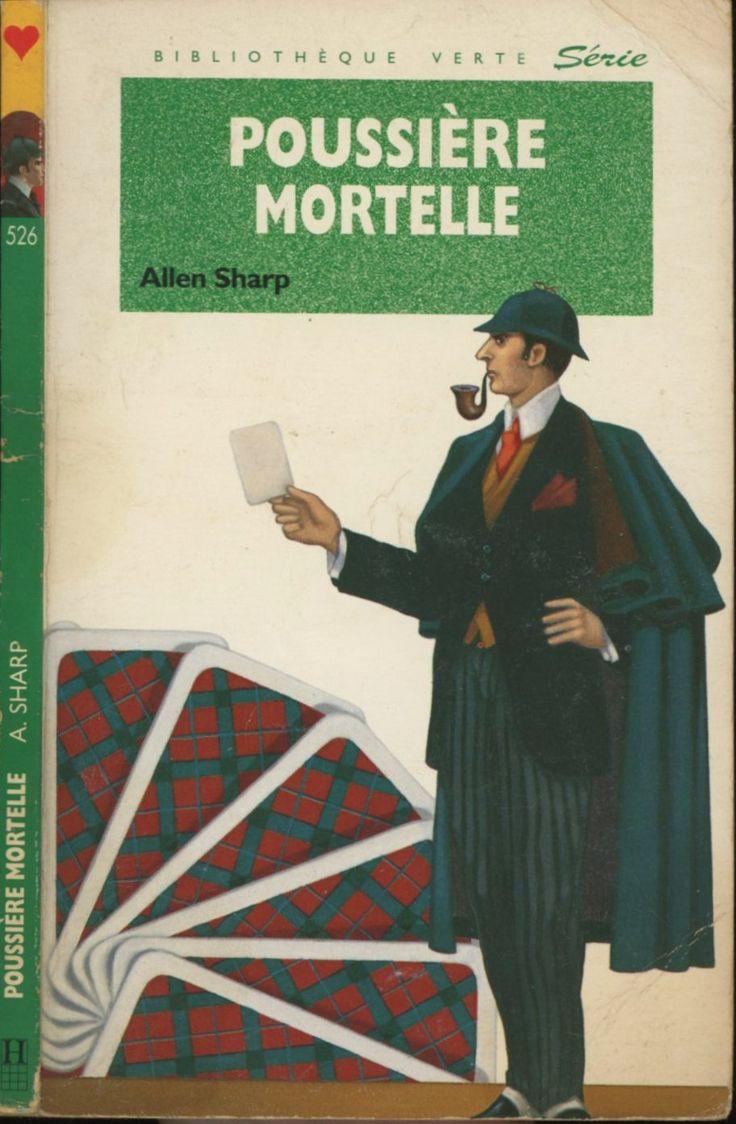 Louis Constantin - Poussière mortelle série Sherlock Holmes , Allen Sharp, Hachette Bibliothèque Verte 1992