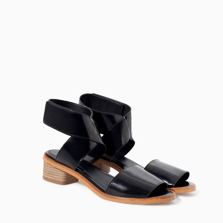 ANKLE STRAP SANDAL WITH VELCRO - Shoes - TRF - SALE | ZARA Canada Ref. 3668/301 79.90 CAD UPPER 100% POLYURETHANE LINING 100% POLYURETHANE SOLE 100% THERMOPLASTIC RUBBER