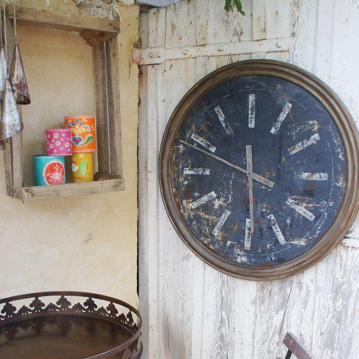 Horloge fait main 75cm, grandes aiguilles de la boutique petitesrecoltes sur Etsy