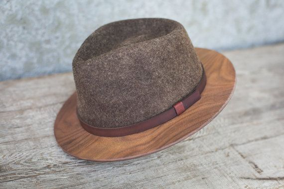 Brown Fedora w/Walnut Brim