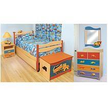 Boys Like Trucks Bedroom Set - 6 pc. - Natural