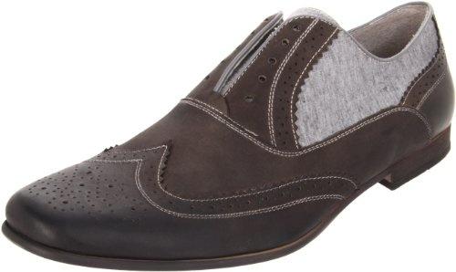 Steve Madden Men`s Banelli Slip On,Grey Leather,11 M US