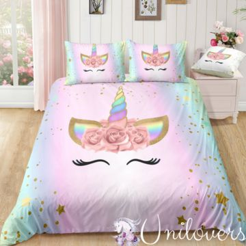 Dreaming Star Unicorn Bedding Set Unicorn Madness In