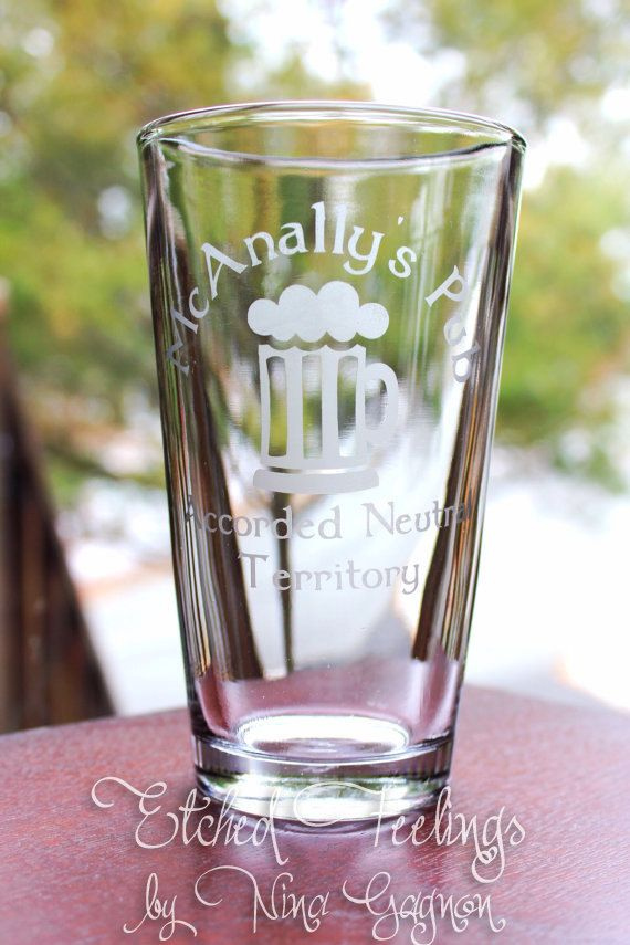 Dresden Files Pint Glass - custom designs available for any sort of geekery (star wars, Star Trek, lord of the rings, Mario, Zelda, etc) on Etsy, $12.00
