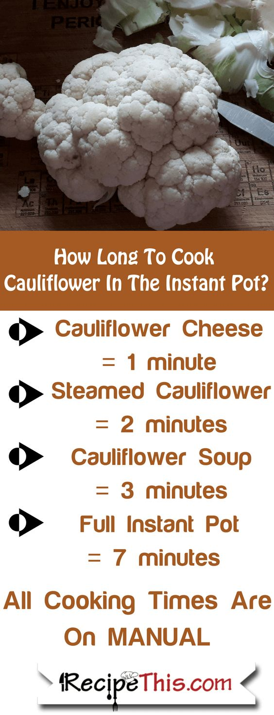 Instant Pot Cauliflower - How Long To Cook Cauliflower In The Instant Pot