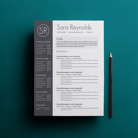 Resume Template Cover Letter Template The Sara By Phdpress: 70 Best Resume & Cover Letters Images On Pinterest