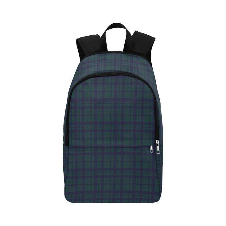 Green Plaid Hipster Style Fabric Backpack for Adult by  Scar Design  #purplebackpack #plaid #plaidbackpack #rockstyle #rockbackpack #modern #backpack #modernbackpack #buybackpack #giftsforhim #giftsforher #coolbackpack #artsadd #scardesign