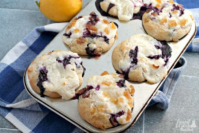 Blueberry Lemon Cream Cheese Muffins are brimming with blueberries ...