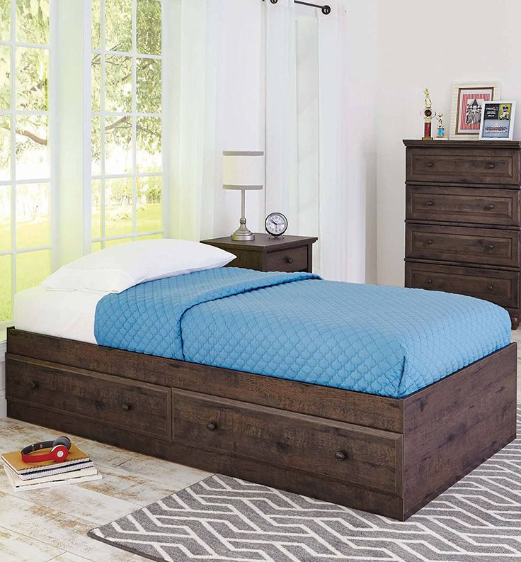 better homes and gardens crossmill mates bed heritage walnut - Home And Garden Furniture Collection