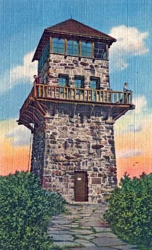 wayah bald observation tower