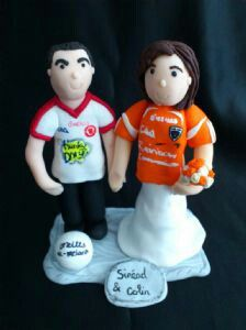 This Is A Football Themed Wedding Cake Topper I Made Quite While Ago But Has