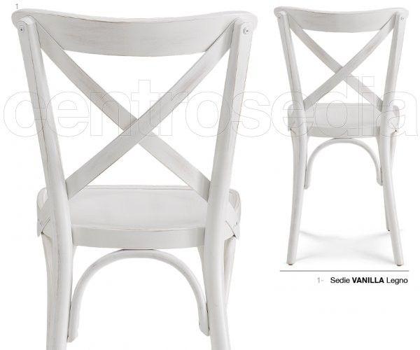 Vanilla Sedia Legno-Sedie Vintage e Industriali