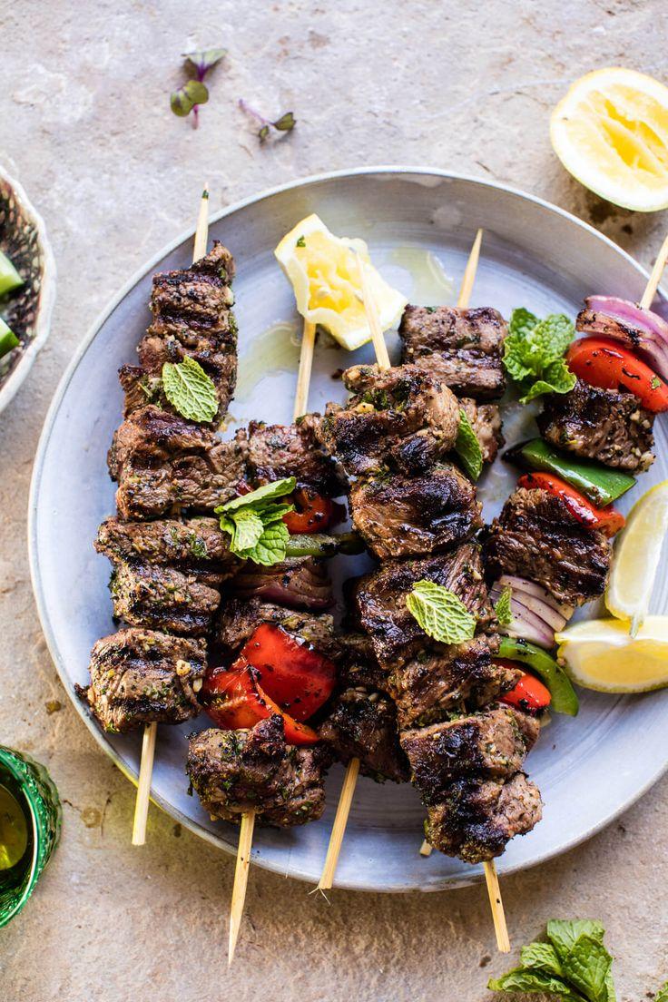 Mediterranean Grilled Lamb Kebabs | halfbakedharvest.com @hbharvest via @hbharvest
