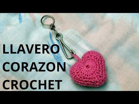 Como tejer un Llavero corazón en tejido crochet o ganchillo tutorial paso a paso. - YouTube