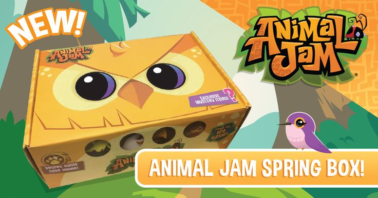 Spread your wings and learn to fly with the Animal Jam Spring Box!  Sign up today to start receiving one of a kind Animal Jam goodies and an exclusive game code!  Visit AnimalJamBox.com to learn more about this special offer!