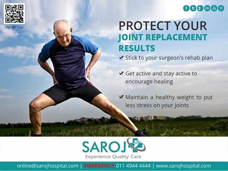 Protect your joint replacement results by following the advise mentioned hereunder: http://bit.ly/293Ztfg