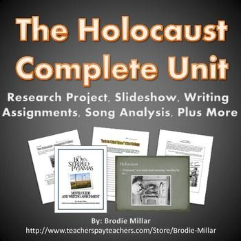 A complete unit with a varied set of documents related to the Holocaust. Covers all of the major events, people and themes of the Holocaust. Includes 9 unique documents including an engaging and comprehensive 119 slide slideshow. The PowerPoint contains vivid images and interesting stories and information.