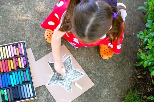 Use these printable star stencils to decorate your path with chalk stars.