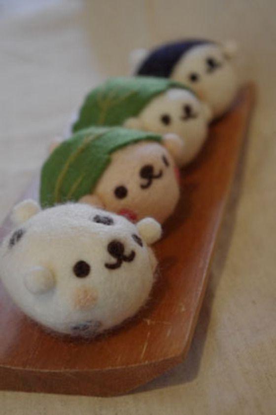 meimei羊毛フェルト☆くまもち
