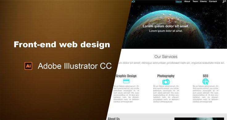 How to design a website in Adobe Illustrator CC