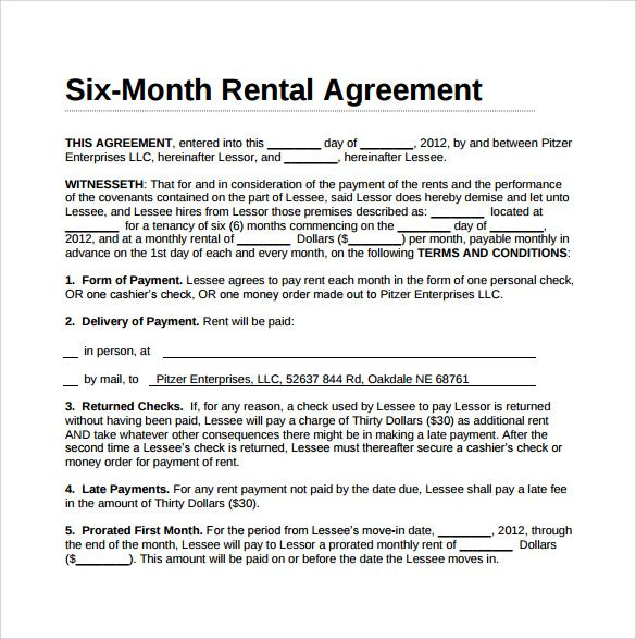 Pin On Lease Agreement