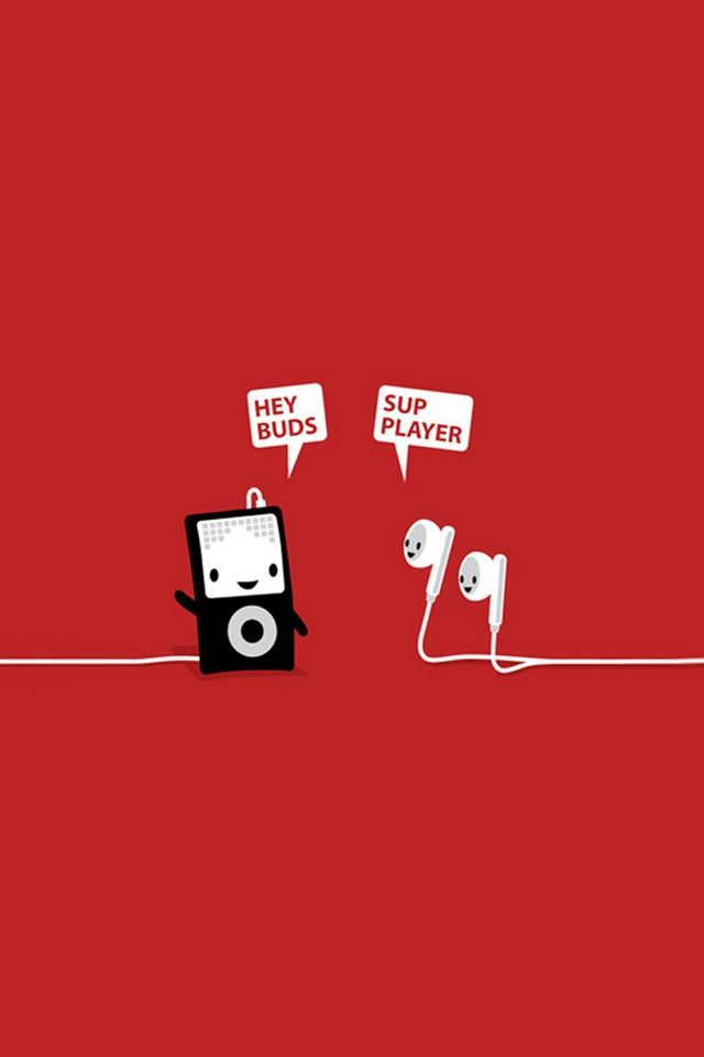 Funny Music Headphones Player Buds iPhone 4s Wallpapers