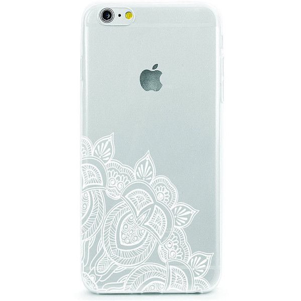 White Flower Mandala iPhone 6 case, lotus flower iphone 5 case, lace... ($22) ❤ liked on Polyvore featuring accessories and tech accessories