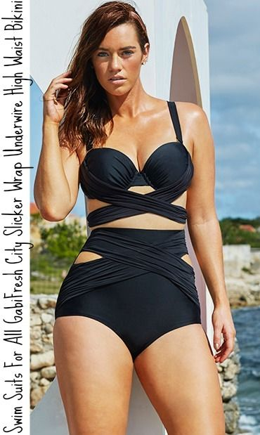 plus size black strappy bathing suit - Google Search