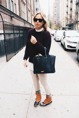 How to style duck boots in the city
