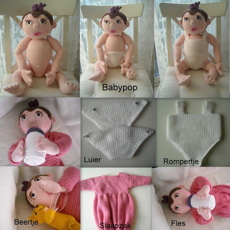 Patroon Babypop met kleding