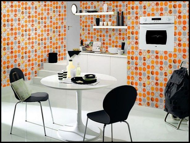 Best 25 Orange Kitchen Wallpaper Ideas On Pinterest