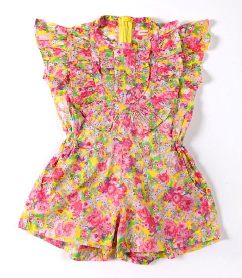 Coco & Ginger Peony Playsuit Size 6 - 12mth  12 - 18mth  18 - 24mth