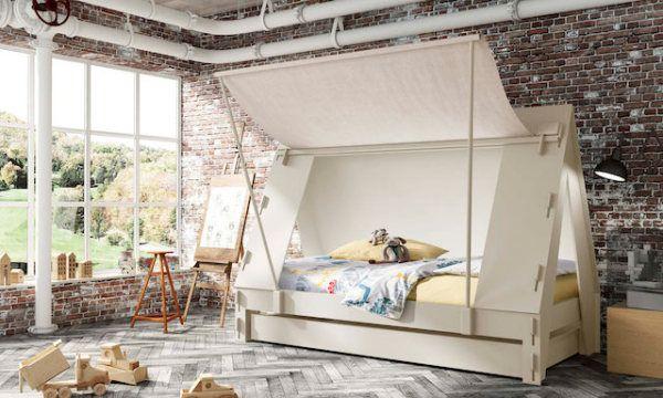 Кровать-палатка белого цвета