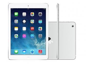 "iPad Mini 2 Apple 16GB Prata 4G Tela 7,9"" Retina - Câmera 5MP + Frontal Processador M7"
