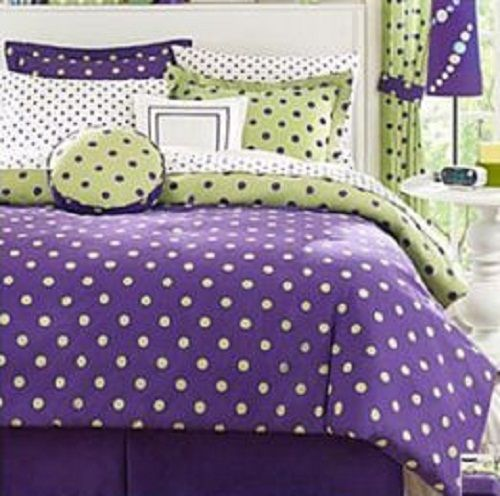 bedroom comforter sets on girls lime green and purple andwhite polka dot soda bedding substitute
