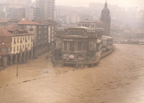 Inundacion en el Casco Viejo