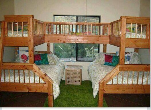 A Quintuplet Bunkbed This Is Neat Bedroomses Pinterest