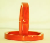 Plain hand crafted wooden bangle coloured with vegetable dye mixed in Lacquer
