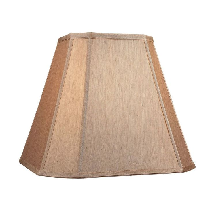 Dolan Designs Lighting Large Cut Corner Square Gold Beige Lamp Shade 140121