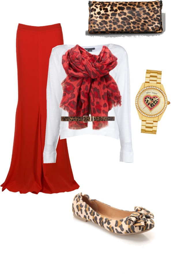 """Red & Leopard"" by sandy-simmons ❤ liked on Polyvore"