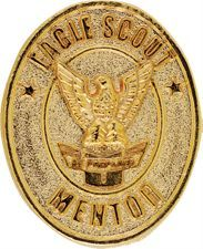 Eagle Mentor pin -- BSA supplies one of these with the Eagle medal/patch kit, but you can buy more from your Scout shop.