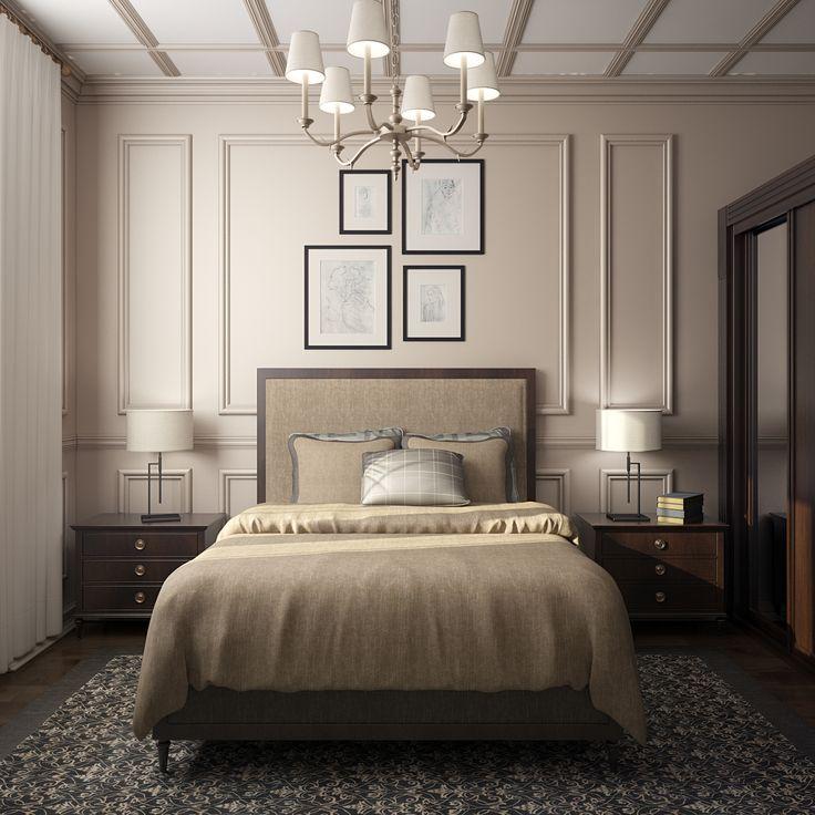 Нежная спальня в классическом стиле