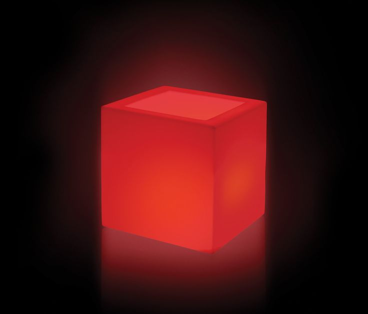 Papavero by Plart Design http://bit.ly/1KcQmiO  Cubic Vase available in 2 sizes and in the illuminated version with RGB LED