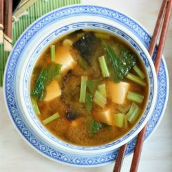 Try this simple and easy miso soup recipe with tofu, greens and tamarind.