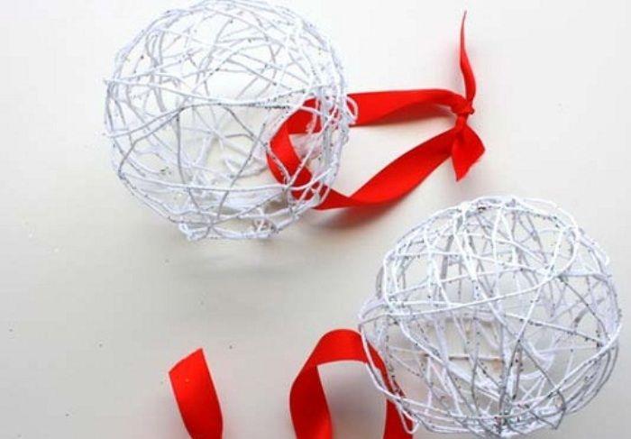 Decorazioni Natale fai da te le palline per l'albero di Natale